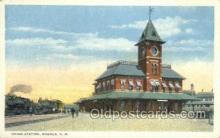 dep001294 - Union Station, Nashua, NH, New Hampshire, USA Train Railroad Station Depot Post Card Post Card