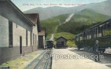 dep001295 - Base Station, White Mountains, NH, New Hampshire, USA Train Railroad Station Depot Post Card Post Card