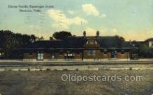 dep001303 - Union Pacific Depot, Beatrice, NE USA Train Railroad Station Depot Post Card Post Card