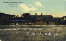 dep001304 - Union Pacific Depot, Beatrice, NE USA Train Railroad Station Depot Post Card Post Card