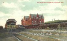 dep001305 - Burlington Depot, Lincoln, NE USA Train Railroad Station Depot Post Card Post Card