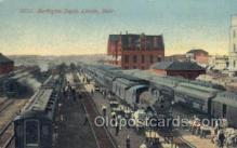 dep001308 - Burlington Depot, Lincoln, NE USA Train Railroad Station Depot Post Card Post Card