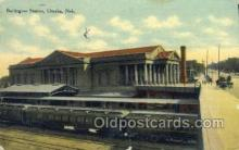 dep001316 - Burlington Station, Omaha, NE USA Train Railroad Station Depot Post Card Post Card