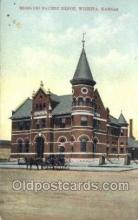 dep001335 - Missouri Pacific Depot, Wichita, KS, Kansas USA Train Railroad Station Depot Post Card Post Card