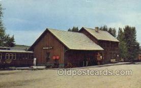 dep001354 - Alder Glutch Short Line R, Nevada City, MT, Montana, USA Train Railroad Station Depot Post Card Post Card