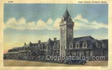 dep001359 - Union Pacific, Portland, ME, Maine, USA Train Railroad Station Depot Post Card Post Card