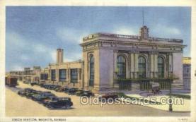 dep001362 - Union Station, Wichita, KS, Kansas,USA Train Railroad Station Depot Post Card Post Card
