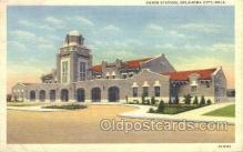 dep001371 - Union Station, Oklahoma City, OK, Oklahoma, USA Train Railroad Station Depot Post Card Post Card