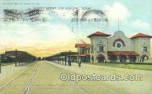 dep001373 - Sunset Depot, San Antonio, TX, Texas, SUA Train Railroad Station Depot Post Card Post Card
