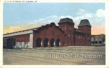 dep001376 - CVRR Depot, ST Albanas, Vt, Vermont, USA Train Railroad Station Depot Post Card Post Card