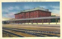 dep001381 - Atlantic Coast Line Depot, Rocky Mount, NC, North Carolina, USA Train Railroad Station Depot Post Card Post Card