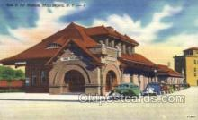 dep001383 - Erie RR Station, Middletown, NY, New York, USA Train Railroad Station Depot Post Card Post Card