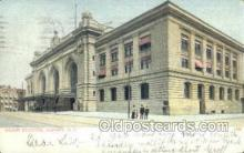 dep001384 - Union Station, Albany, NY, New York, USA Train Railroad Station Depot Post Card Post Card