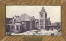 dep001387 - Central Depot, Ny, New York, USA Train Railroad Station Depot Post Card Post Card