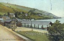 dep001388 - RR Depot, Hammondsport, Ny, New York, USA Train Railroad Station Depot Post Card Post Card