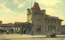 dep001390 - Railroad Station, Rochester, Ny, New York, USA Train Railroad Station Depot Post Card Post Card