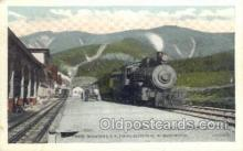 dep001397 - Trains Ascending, White Mountains, NH, New Hampshire, USA Train Railroad Station Depot Post Card Post Card