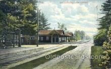 dep001405 - Scandaga Park, NY Depot Train Railroad Station Depot Post Card Post Card
