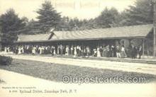 dep001409 - RR Station, Scandaga Park, NY, New York, USA Train Railroad Station Depot Post Card Post Card