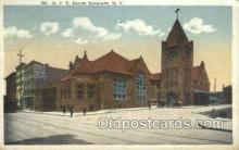 dep001411 - NYC Depot, Syracuse, Ny, New York, USA Train Railroad Station Depot Post Card Post Card