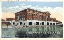 dep001413 - DL and W Terminal Buffalo, NY, New York, USA Train Railroad Station Depot Post Card Post Card