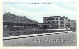 dep001417 - C and O Station, Ashland, Ky, Kentucky, USA Train Railroad Station Depot Post Card Post Card