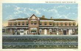 dep001418 - New southern RR Depot, Somerset, KY, Kentucky, USA Train Railroad Station Depot Post Card Post Card