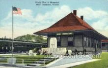 dep001427 - WWII Memorial, West Frankfort, Illinois, USA Train Railroad Station Depot Post Card Post Card