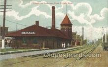 dep001432 - Depot, DeKalb, Il, Illinois, USA Train Railroad Station Depot Post Card Post Card