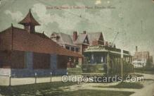 dep001433 - Street Car Station, Soldiers Home, Danville, IL, Illinois, USA Train Railroad Station Depot Post Card Post Card