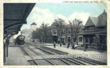 dep001459 - Depot, Watseka, Il, Illinois, USA Train Railroad Station Depot Post Card Post Card