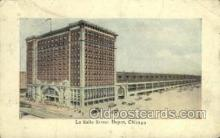 dep001464 - La Salle Street Depot, Chicago, IL USA Train Railroad Station Depot Post Card Post Card