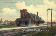 dep001476 - Grand Trunk Depot, Lansing, MI, Michigan, USA Train Railroad Station Depot Post Card Post Card
