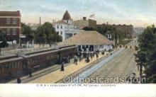 dep001482 - GR and I Station, Petoskey, MI, Michigan, USA Train Railroad Station Depot Post Card Post Card