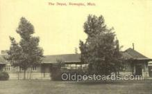 dep001486 - The Depot, Dowagiac, MI, Michigan, USA Train Railroad Station Depot Post Card Post Card
