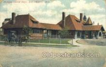 dep001494 - Central Depot, Kalamazoo, MI USA Train Railroad Station Depot Post Card Post Card