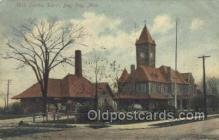 dep001508 - Central Depot, Bay City, MI, Michigan, USA Train Railroad Station Depot Post Card Post Card