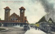 dep001511 - Grand Station, Battle Creek, MI, Michigan, USA Train Railroad Station Depot Post Card Post Card