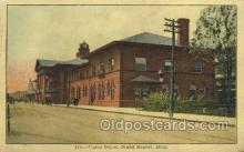 dep001522 - Union Depot, Grand Rapids, MI, Michigan, USA Train Railroad Station Depot Post Card Post Card