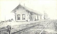 dep001525 - Reproduction - Grand Trunk Depot, Schoolcraft, michigan, USA Train Railroad Station Depot Post Card Post Card