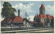 dep001526 - Central Depot, Bay City, MI, Michigan, USA Train Railroad Station Depot Post Card Post Card