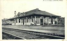 dep001530 - MCRR Depot, Gardiner, ME, Maine, USA Train Railroad Station Depot Post Card Post Card