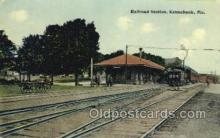 dep001538 - RR Station, Kennebunk, ME, Maine, USA Train Railroad Station Depot Post Card Post Card