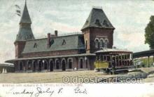 dep001544 - RR Depot, Pittsfield, MA, Massachusetts, USA Train Railroad Station Depot Post Card Post Card