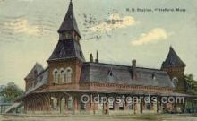 dep001545 - RR Station, Pittsfield, MA, Massachusetts, USA Train Railroad Station Depot Post Card Post Card