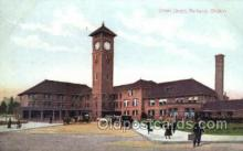 dep001550 - Union Depot, Portland, OR, Oregon, USA Train Railroad Station Depot Post Card Post Card