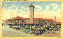 dep001577 - Union Station, Portland, OR, Oregon, USA Train Railroad Station Depot Post Card Post Card