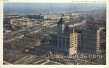 dep001581 - Central Station, Chicago, IL, Illinois, USA Train Railroad Station Depot Post Card Post Card