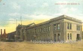 dep001583 - Union Depot, Des Moines, IA, Iowa, USA  Train Railroad Station Depot Post Card Post Card