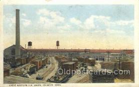 dep001585 - Great Western RR Shops, Oelwein, IA, Iowa, USA Train Railroad Station Depot Post Card Post Card